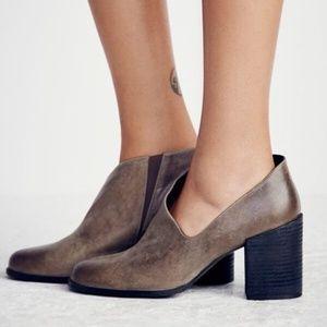NEW Free People Terrah Heel Boot In Grey
